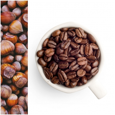 GURMAN'S HAZELNUT flavoured coffee beans